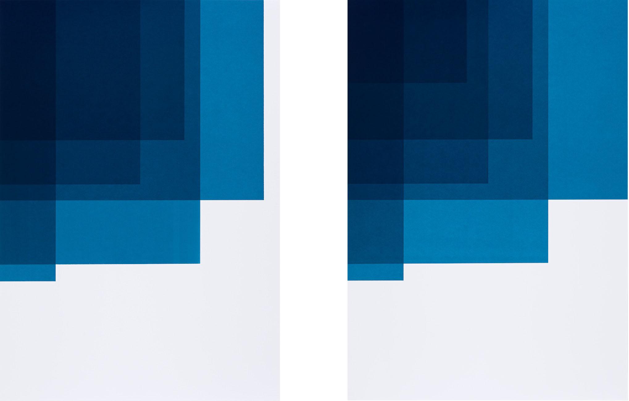 Collecting Colors (Indigo I + II), 2016. Silkscreen print 100 x 70 cm. Ed. 4
