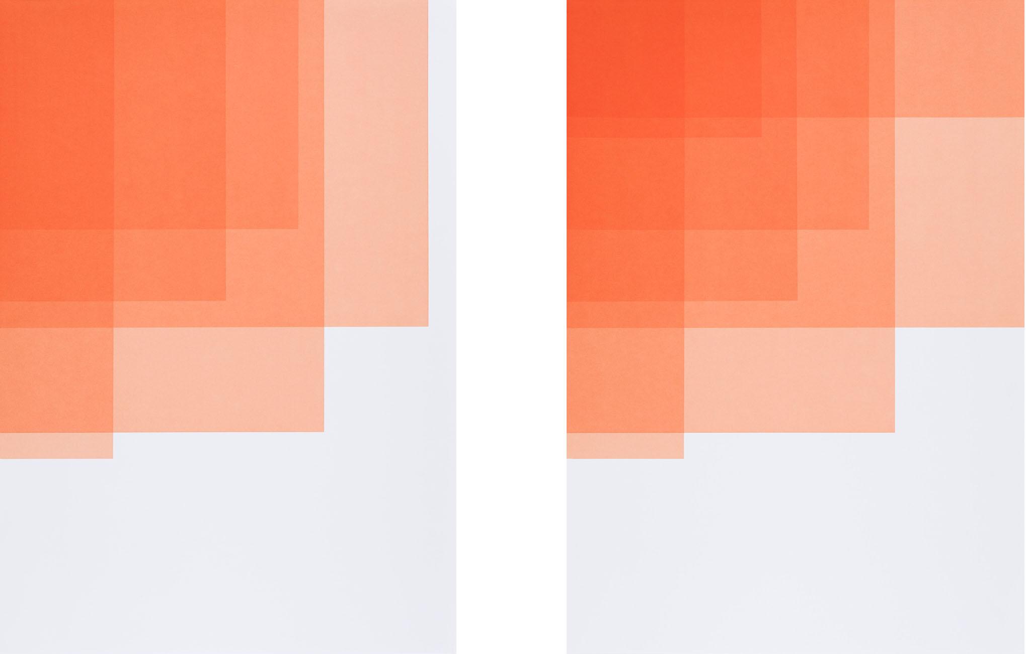 Collecting Colors (Orange I + II), 2016. Silkscreen print 100 x 70 cm. Ed. 4