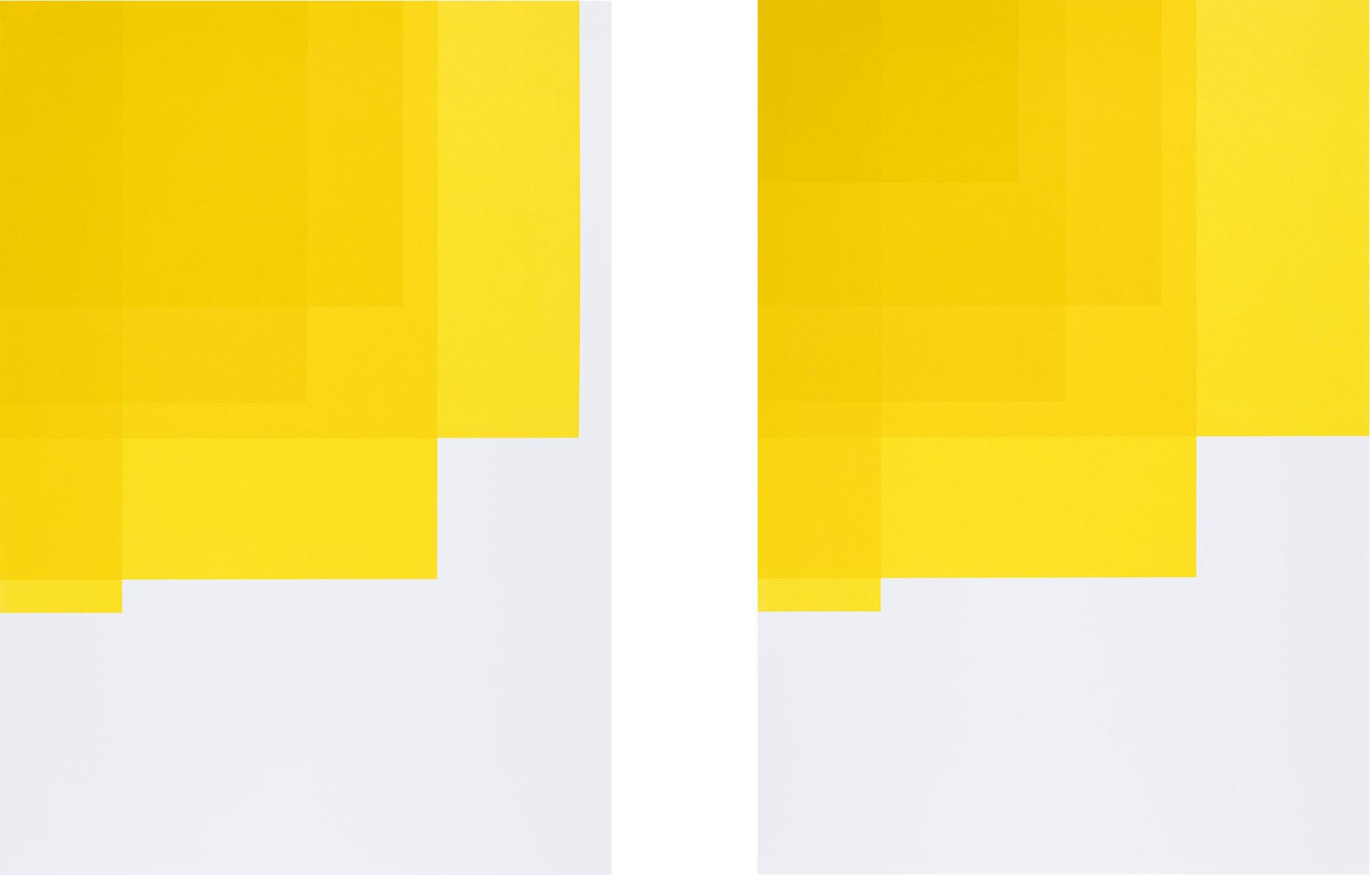 Collecting Colors (Yellow I + II), 2016. Silkscreen print 100 x 70 cm. Ed. 4
