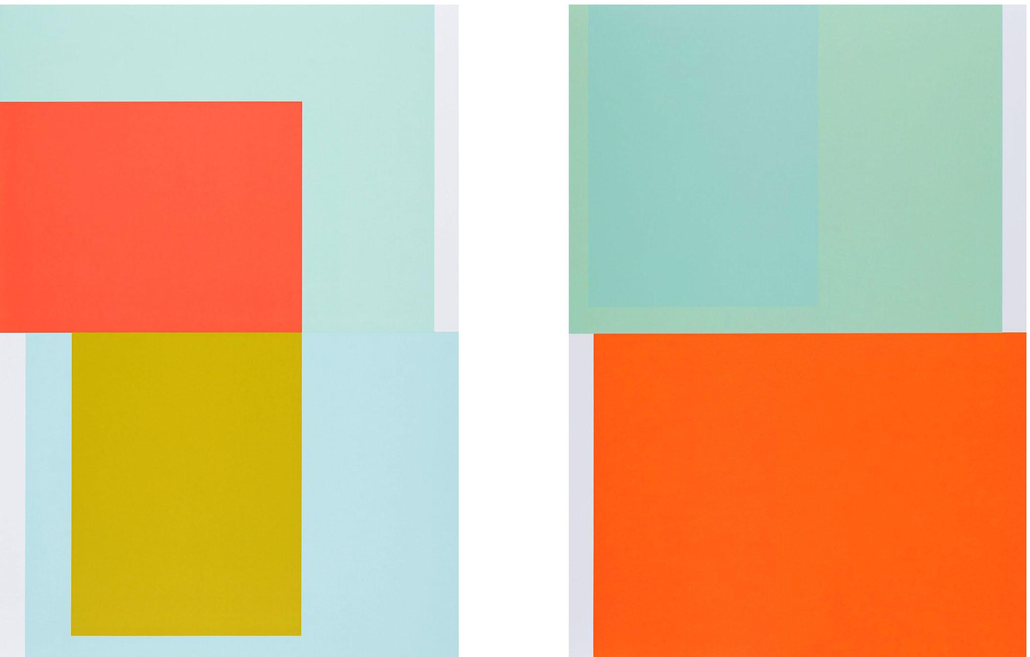 Collecting Colors (Red / Yellow) (Green/Orange), 2016. Silkscreen print 100 x 70 cm. Ed. 4