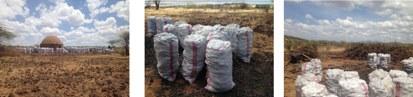 The new kiln and bags of our sustainably produced charcoal