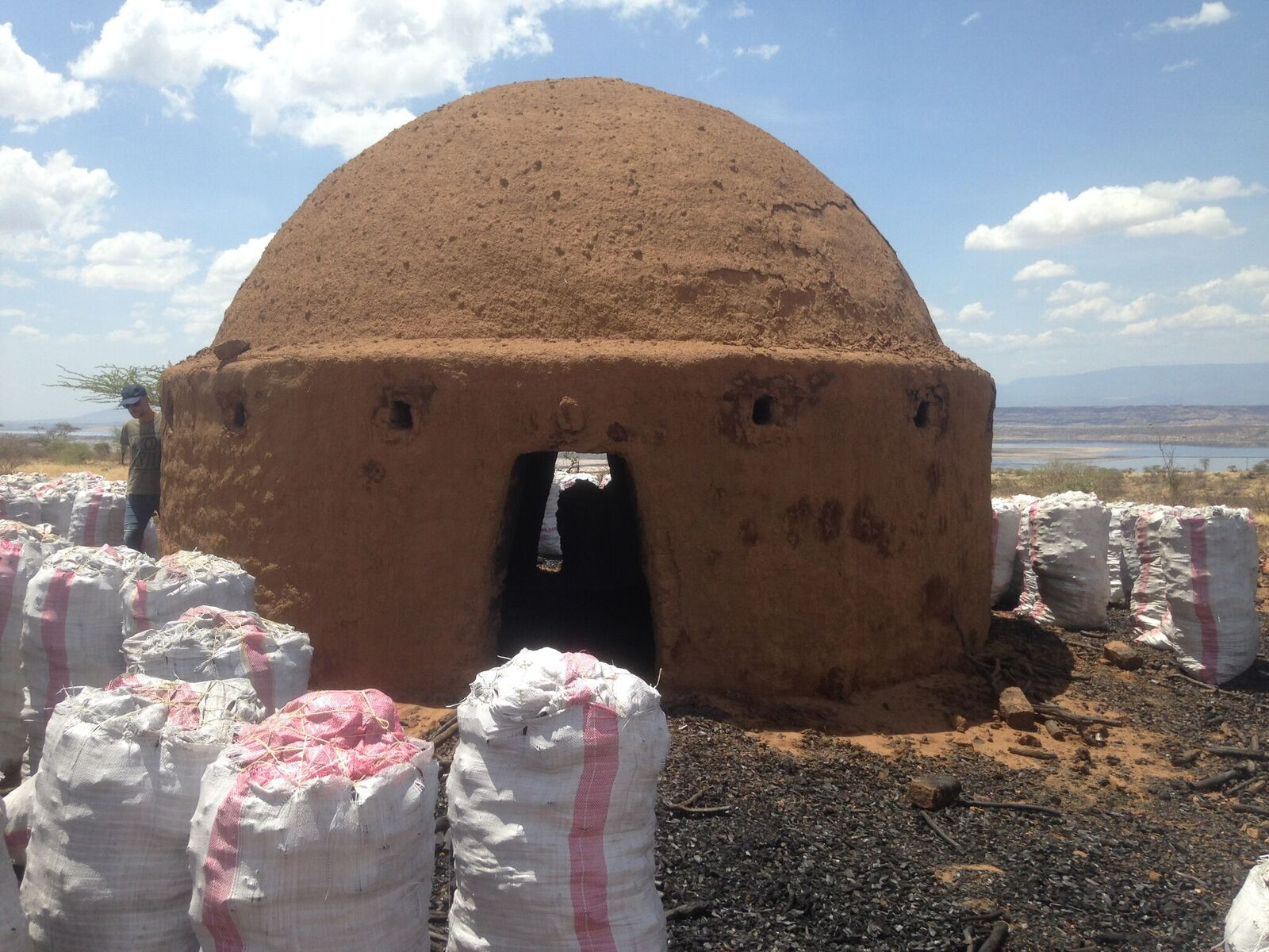One of the first Brazilian Beehive Kilns built at our new production site