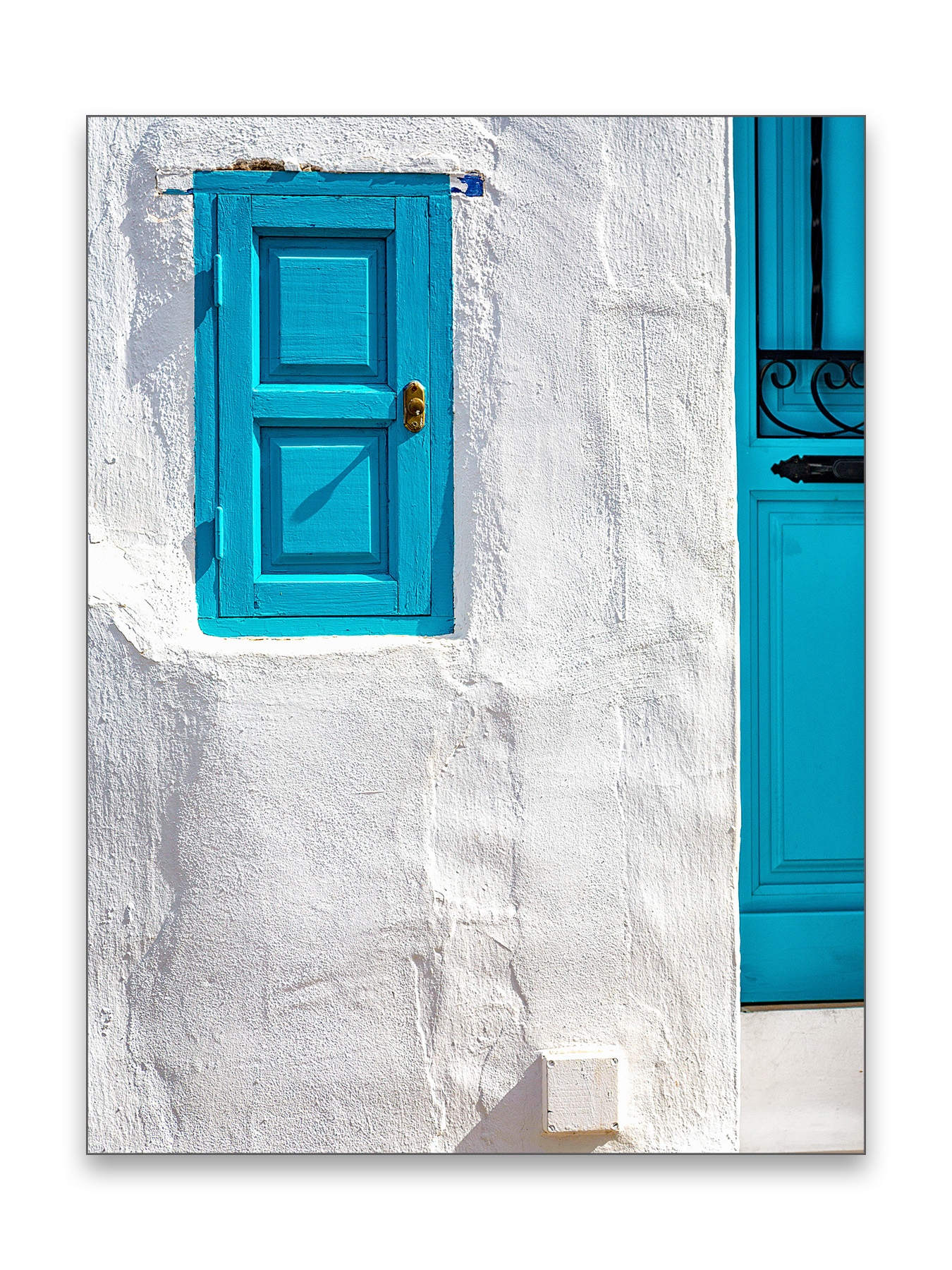 Turquise Door - 30 x 40 cm € 65,-45 x 60 cm € 95,-60 x 90 cm, € 175,-Limited edition of 54 of 5 available