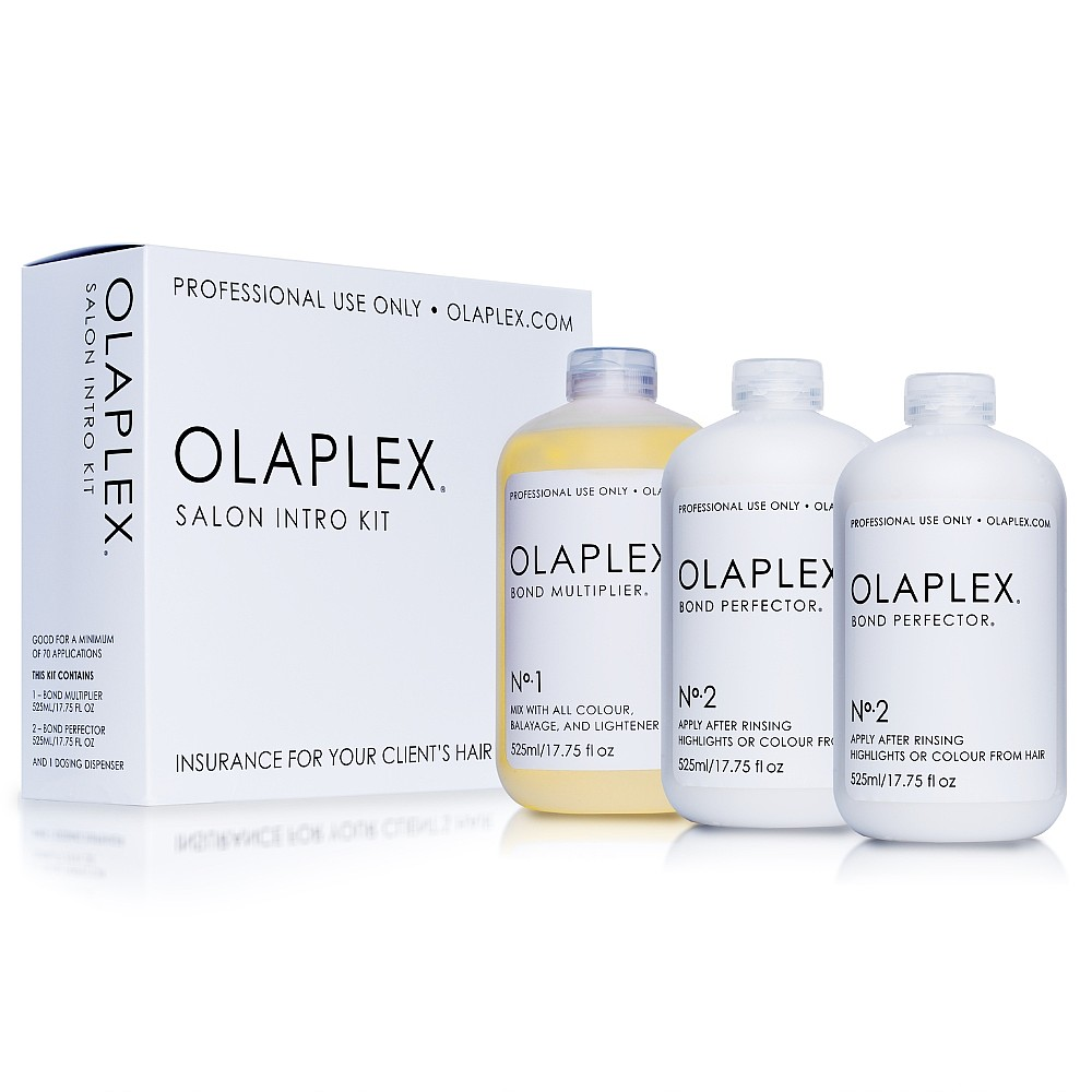 Olaplex - Three-step process that seeks out broken disulphide bonds in the hair that are caused by chemical, thermal, and mechanical damage. This treatment can be done alone, or combined with another service to restore hair, all while limiting damage that is caused during chemical services. Steps 1 and 2 are done in the salon, while step 3 is a take-home treatment for clients available for purchase.