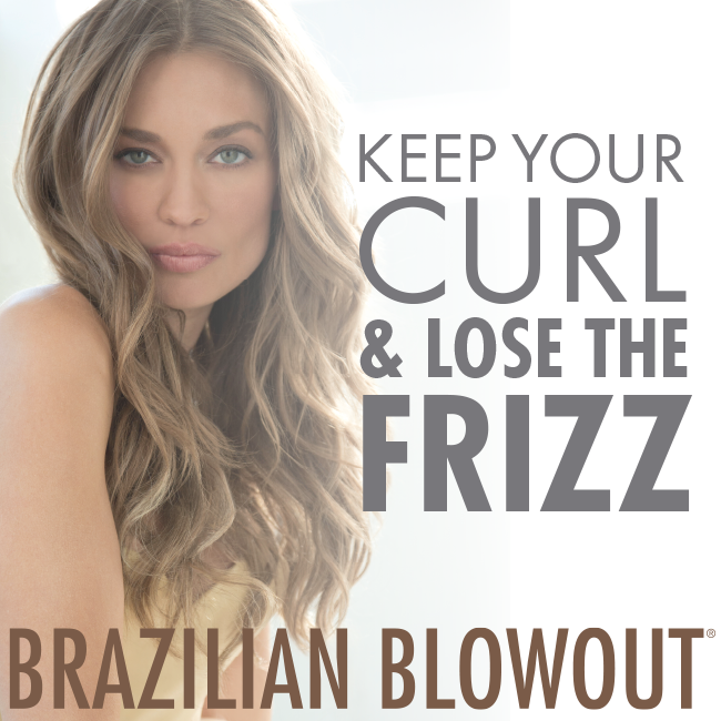 Brazilian Blowout - These customizable smoothing treatments last about 3 to 4 months. actually A protective protein layer is formed around the hair shaft, eliminating frizz and providing longer lasting styles and blowouts.-There is no down time with this treatment, unlike many other keratin treatments. Immediately upon leaving the salon the client can wash their hair, exercise, put hair in a pony tail or clip, etc.-Works on all hair types and textures-No line of demarcation with new hair growth – great for transitioning from Japanese straighteners, relaxers or other keratin treatments.Dont let soaring temperatures and humidity stop you from having smooth, frizz-free hair