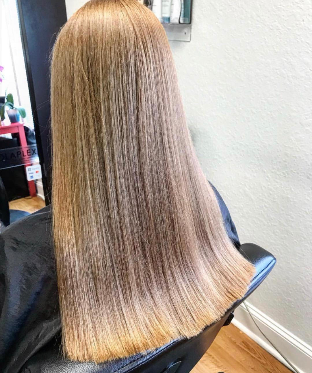 We are always willing to help our clients achieve their hair goals but the number one goal should always be healthy hair . -
