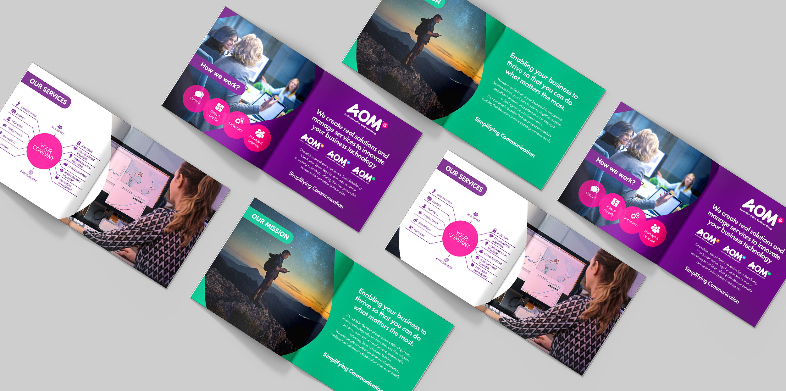 AOM TECHNOLOGY GROUP Branding