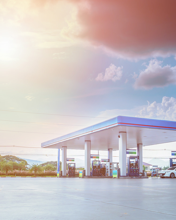 Foto einer Tankstelle