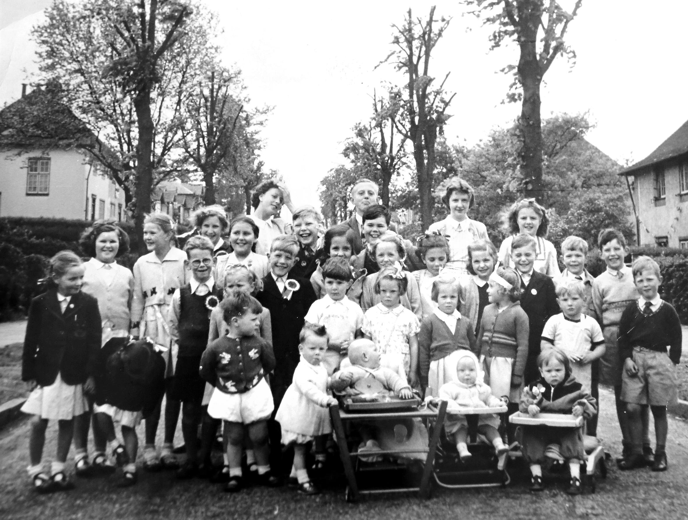 Austin Village Children at the Queen's Coronation street party, 2 June 1953.