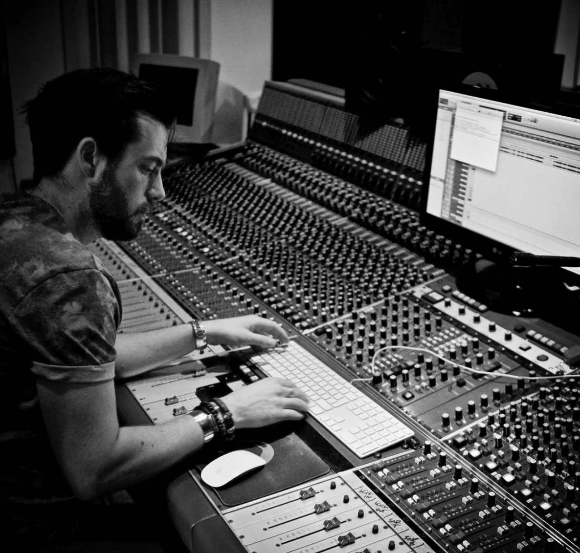 Charlie - Song Writer / Engineer / ProducerHe was the chief in-house engineer at the world famous Britannia Row studios. He has worked in many studios across the country with some of the biggest names in the industry. Click Here