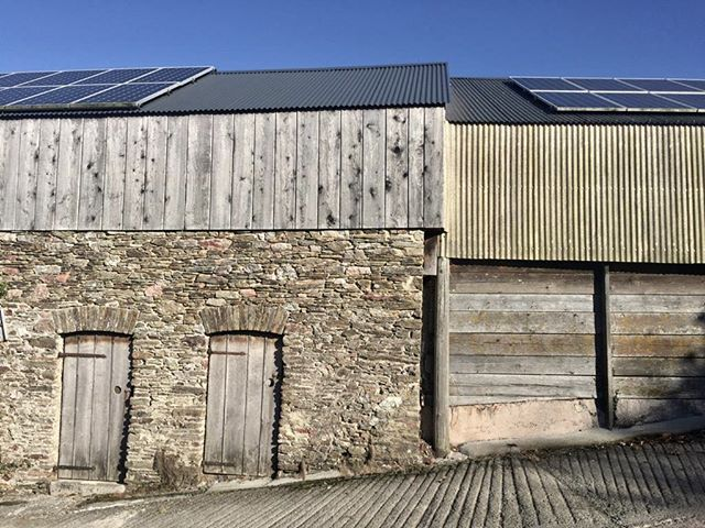 Barn clash  #rural #buildings #devon #agriculture #old #weathered #aged #barn #organic #wood #stone #countryside #architecture #simple #beautiful #geometric #cassioncastlearchitects #cassioncastle