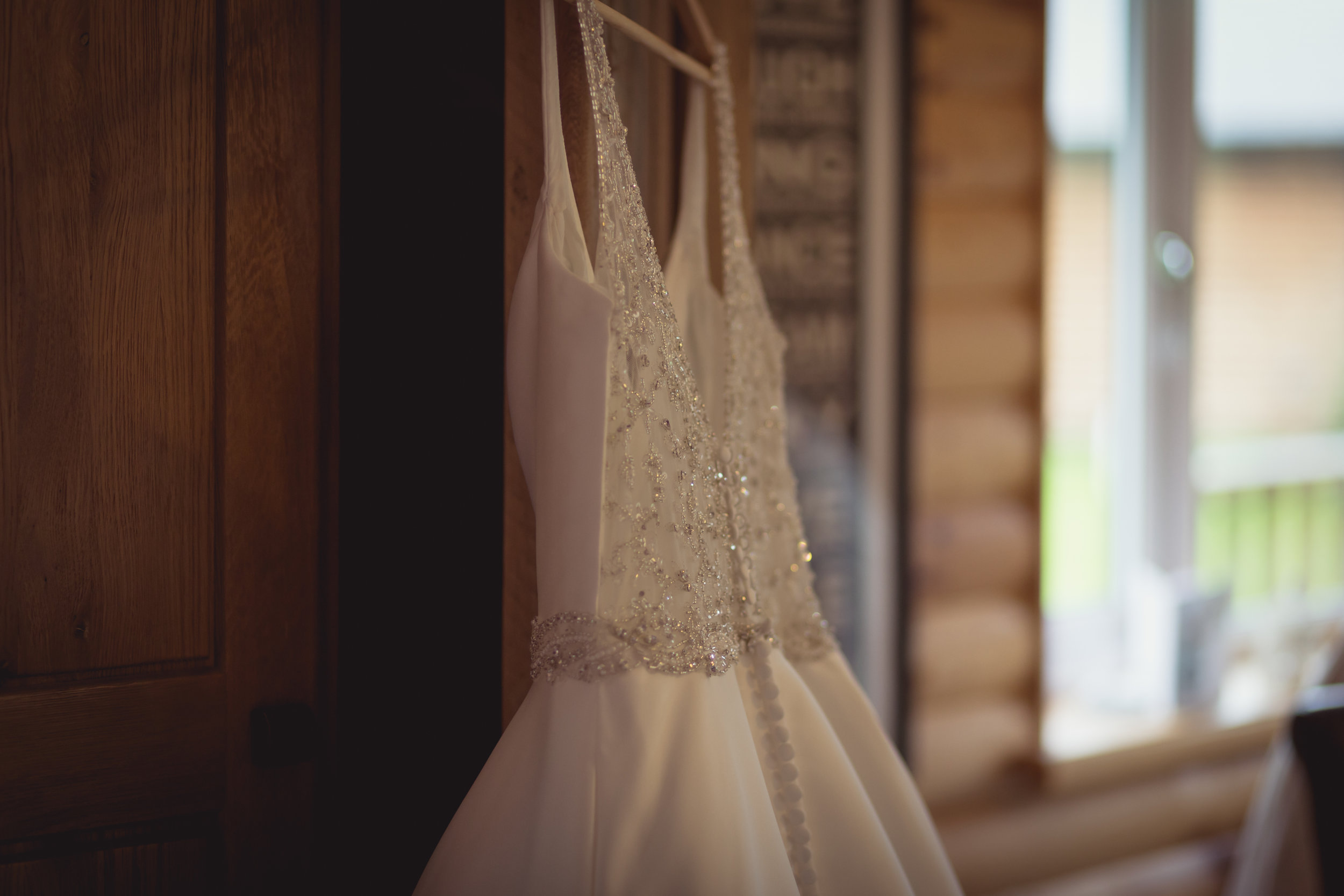 close up photograph showing the detail on a wedding dress at a South Wales wedding
