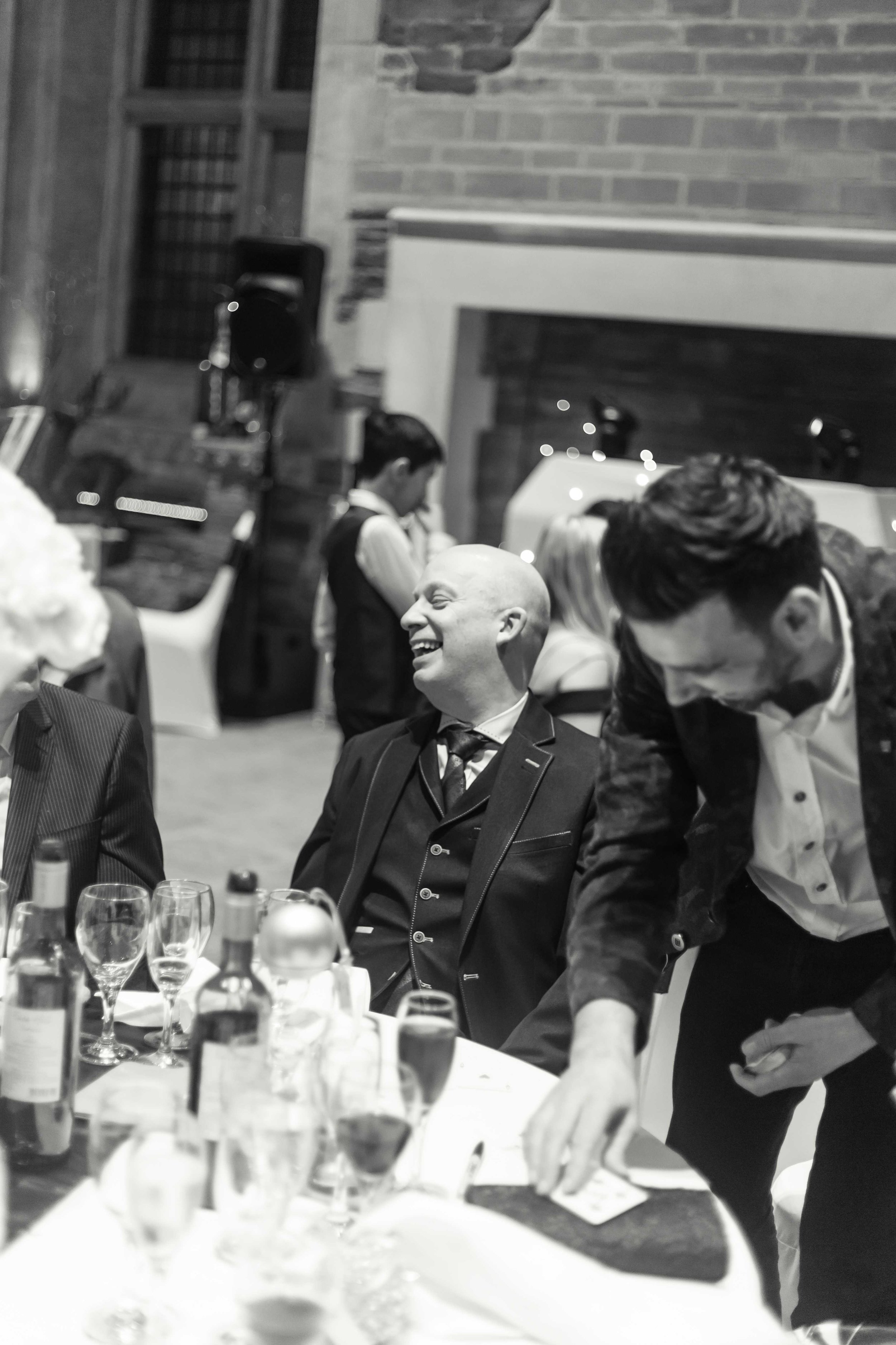 Magician performing tricks at Caerphilly wedding
