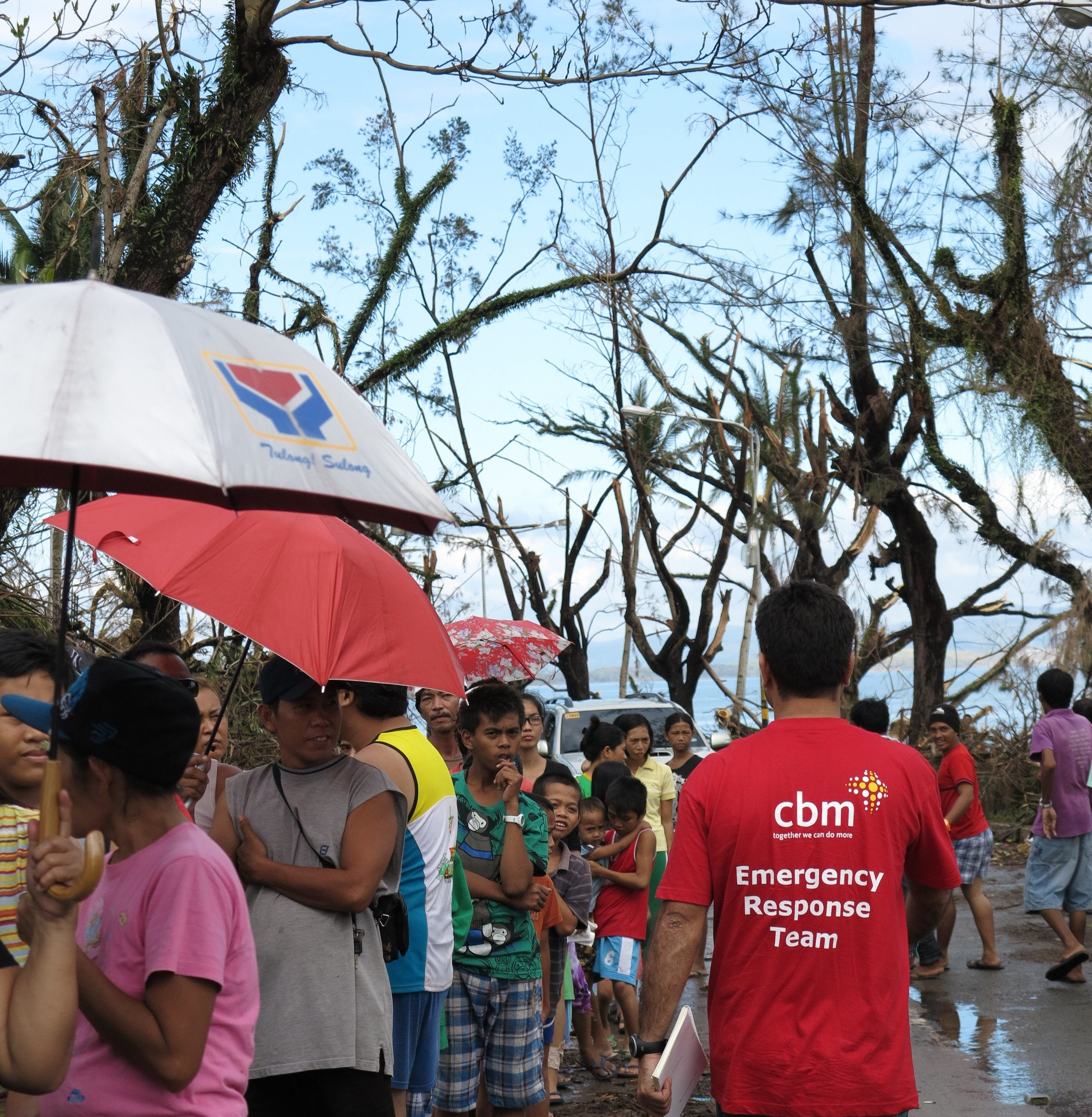 CBM's Emergency Response Team helps people after a disaster