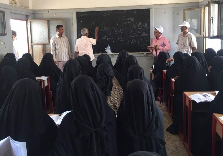 A group of community health volunteers take part in training to distribute the first ever treatments for blinding trachoma in Yemen. Copyright Yemen Ministry of Health.