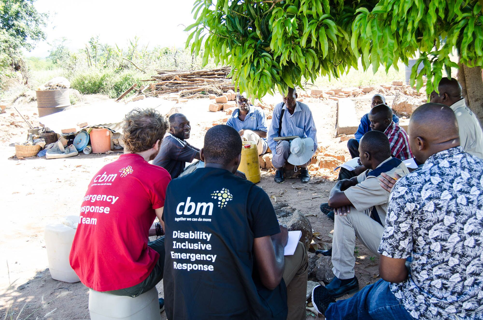 CBM's Emergency Response team at work in Zimbabwe (c) CBM