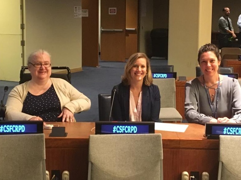 Dr. Mary Keogh with CBM Colleagues the Convention of States Parties on the Rights of Persons with Disabilities
