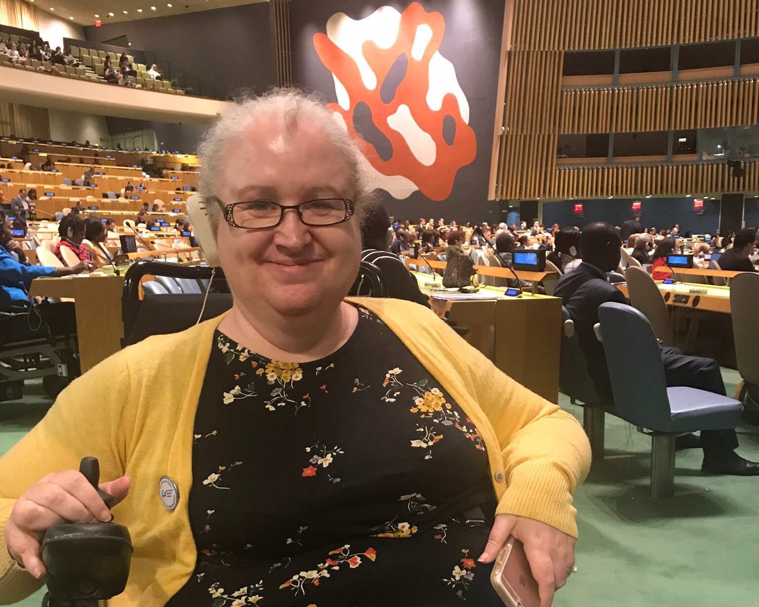 Dr. Mary Keogh, Director of Disability Inclusive Development with CBM, at the Convention of States Parties on the Rights of Persons with Disabilities