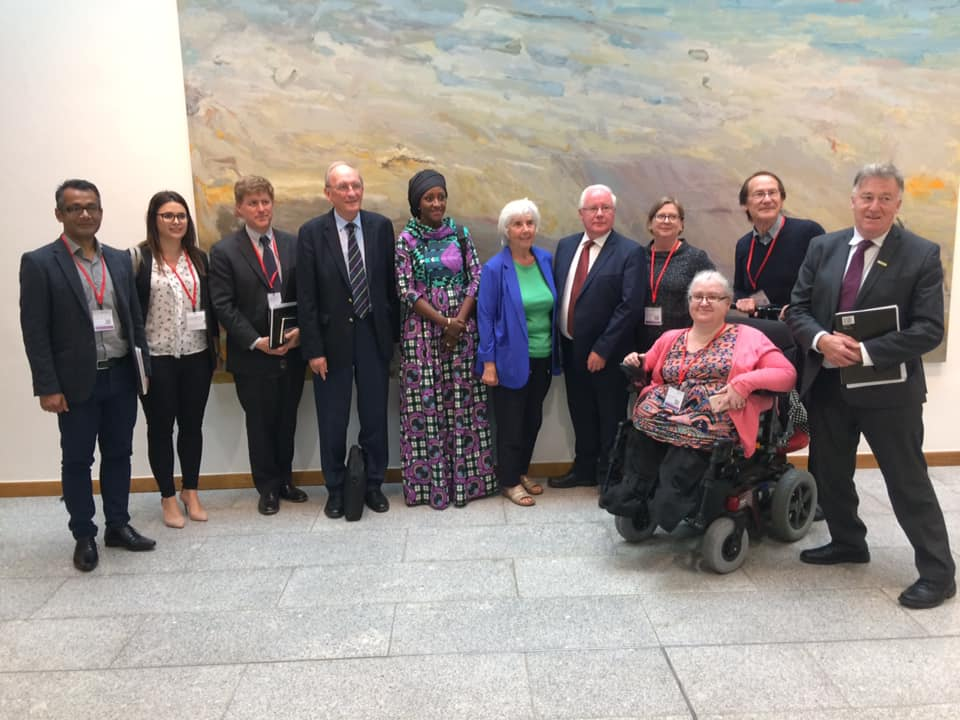 Members of the Dochas Disability Inclusion Working Group with Oireachtas Joint Committee on Foreign Affairs & Trade and Defence