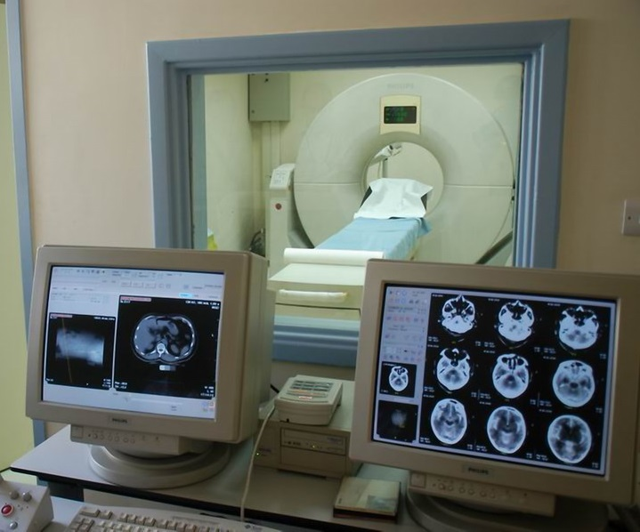 CT Scan phillips machine part outpatient services at the radiology department in Palestine Hospital Amman Jordan