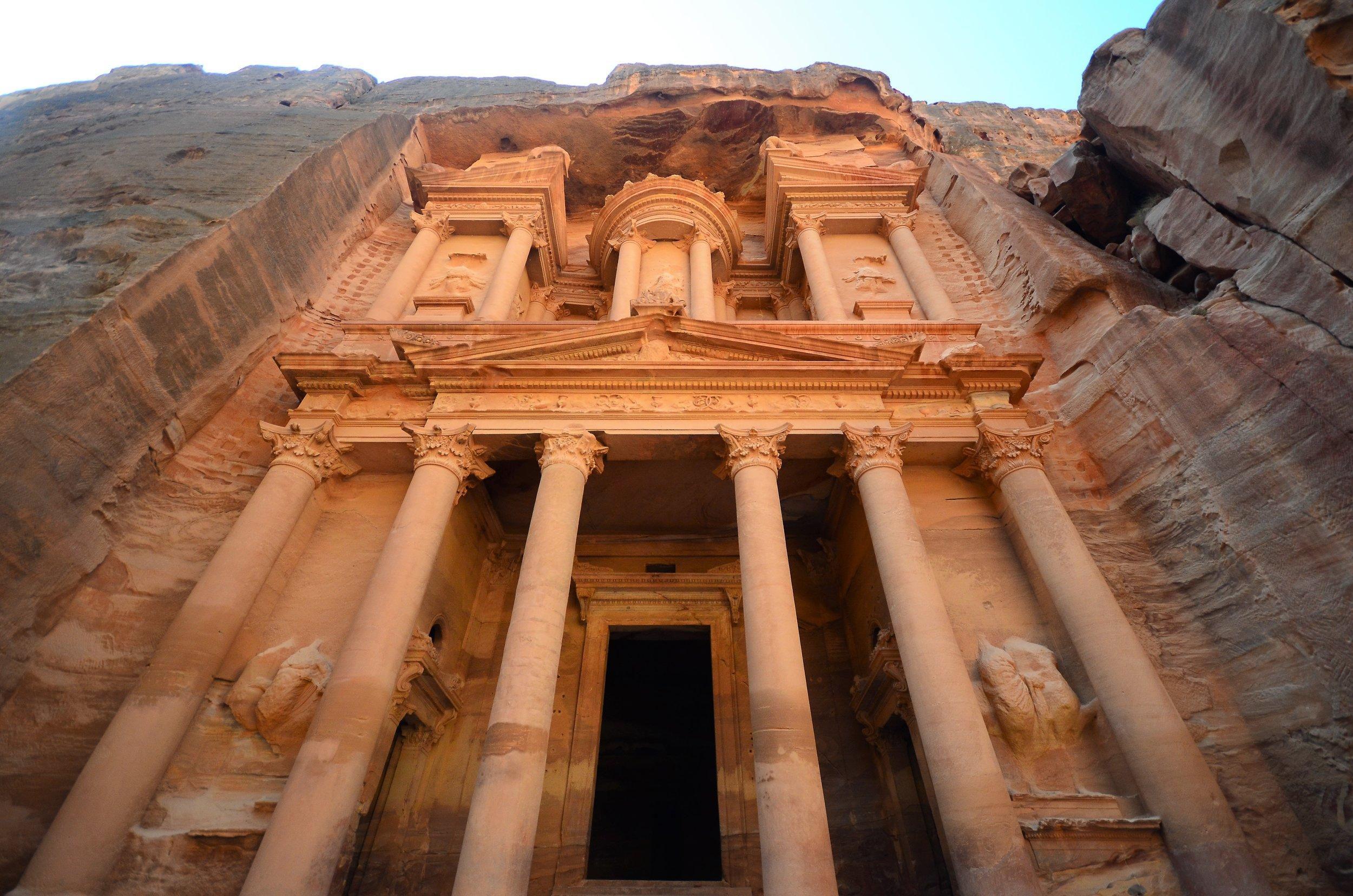 Popular tourist destination Petra in Southern Jordan