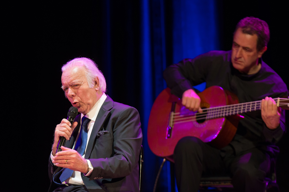 Carlos do Carmo, a fado legend, on stage at Town Hall in Manhattan, during the 2018 Fado Festival.
