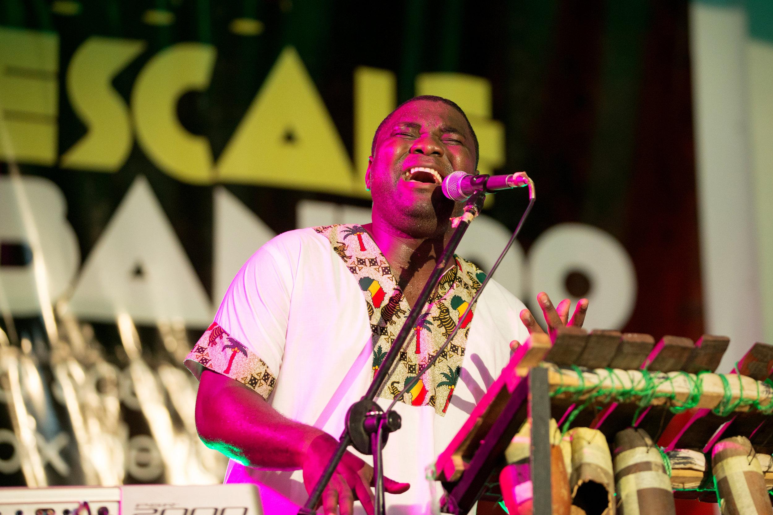 Armand Biyag from Cameroon at Escale Bantoo