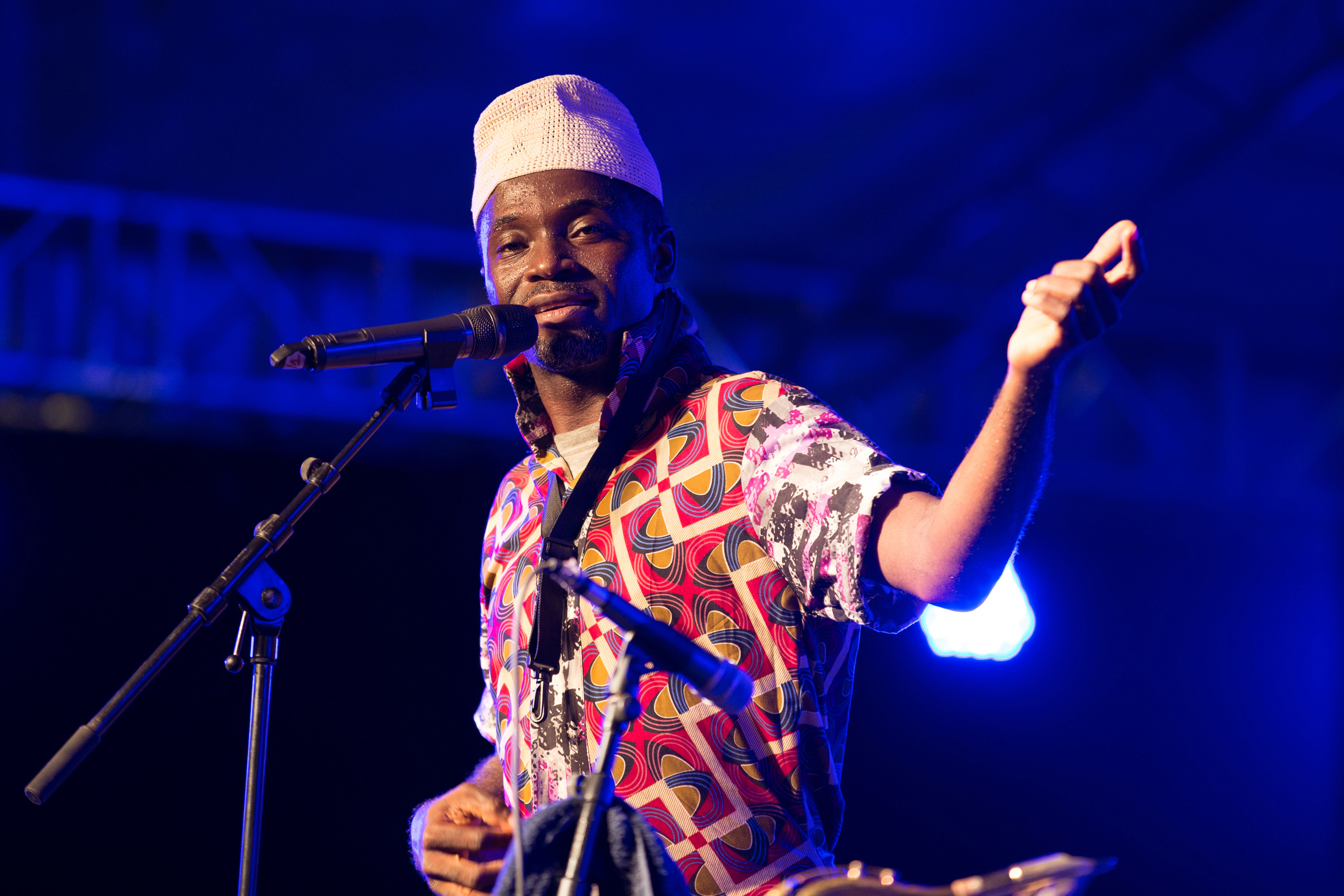 Nigerian Sean Olota and Extasi Gang, his nine member band performed a strong set based on afrobeat rhythms