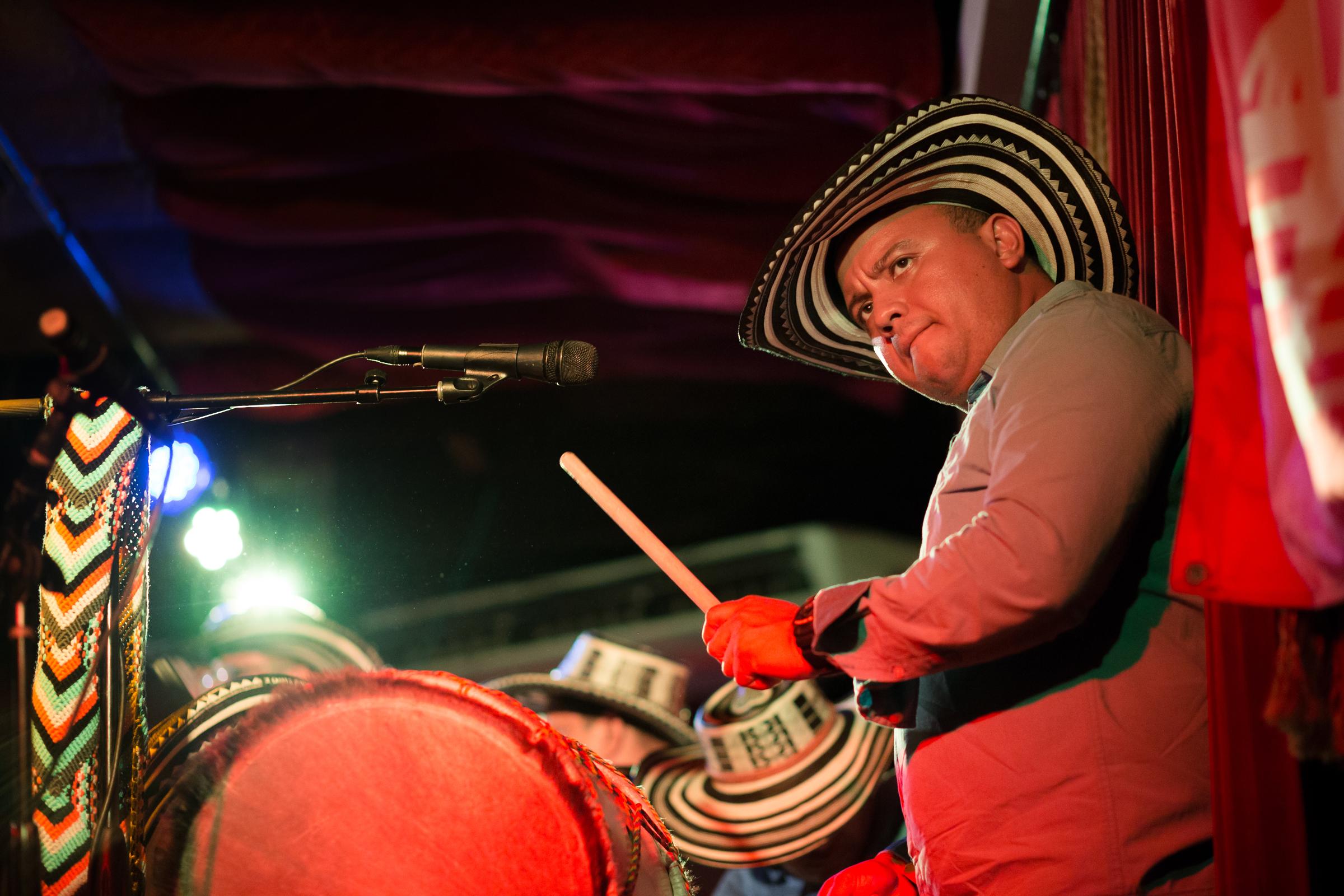 Alberto Posada (Tambora drum, vocals)