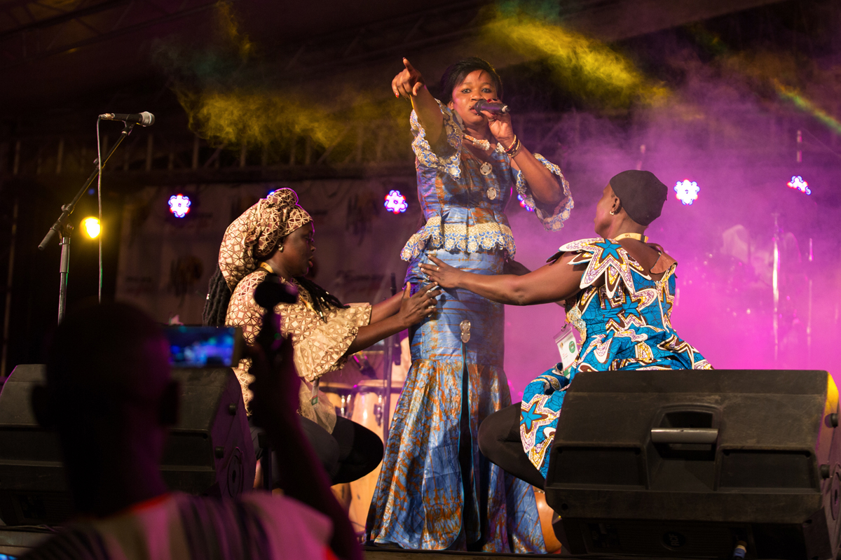 Rama (Alimatou Diakite),a young mandinke artist from Burkina Faso performing at 2018 MASA festival in Abidjan.