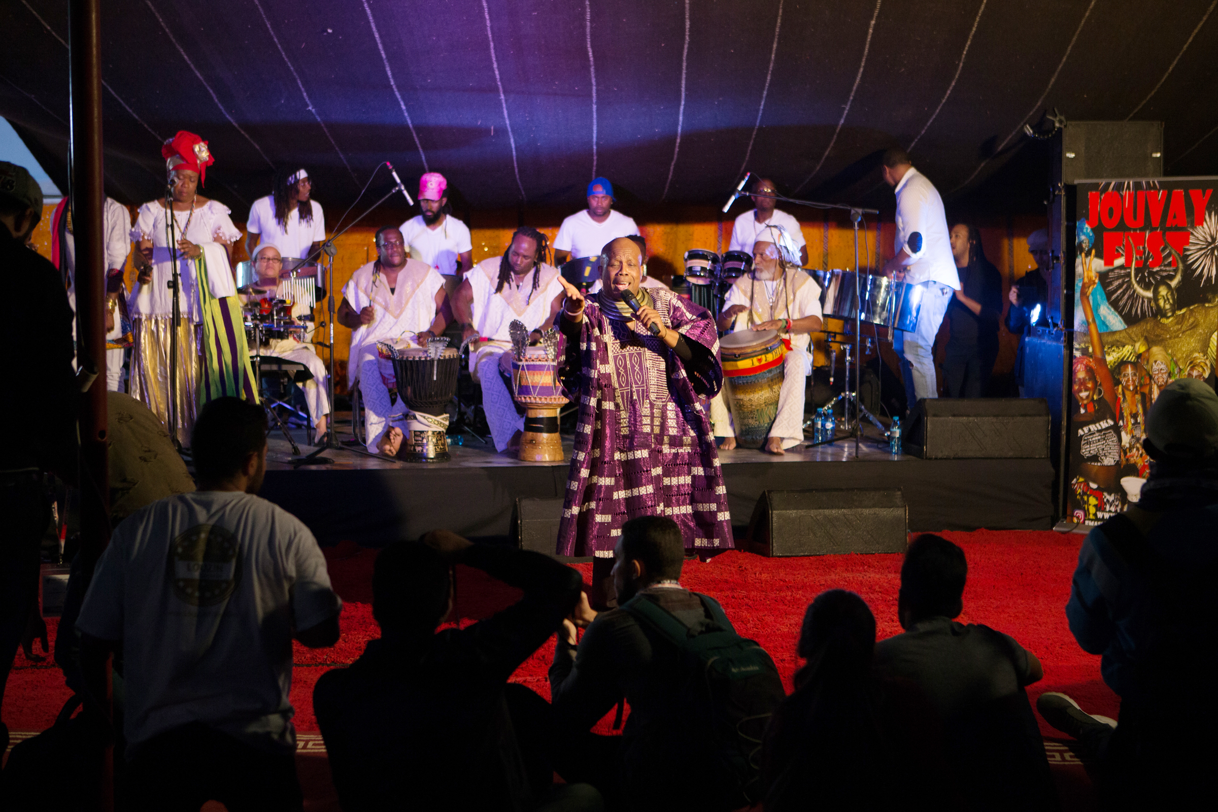 JouvayFest, a Brooklyn based Trinidadian Carnival band performing at the tent outside of theMohammed 5 Theater during Visa For Music 2017