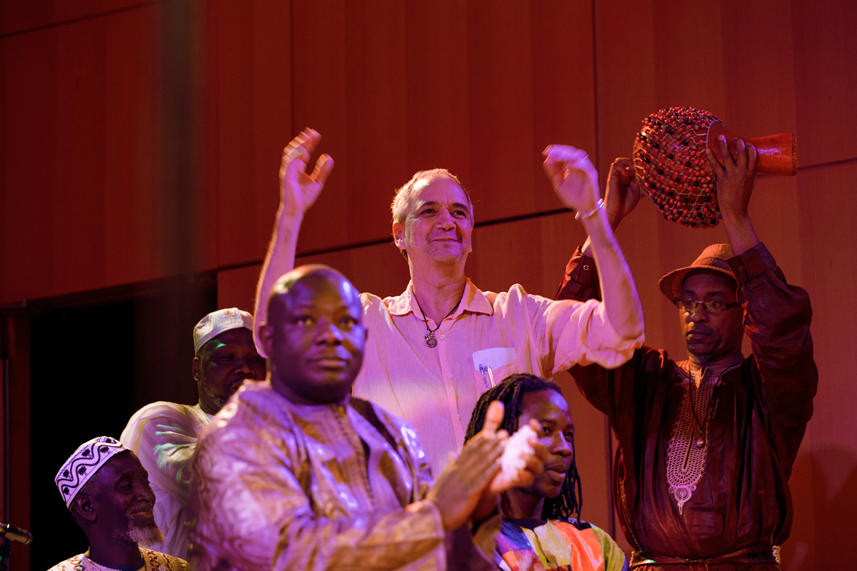Sylvail Leroux at a historic gatering of West African Griots, presented by LiveSounds at Elebash Hall, November 27th, 2012.