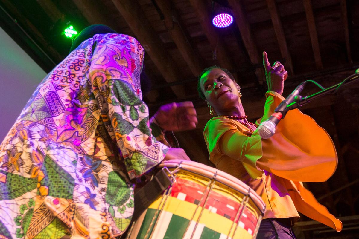 Sheila Anozier and drummer Tiga Jean-Baptiste