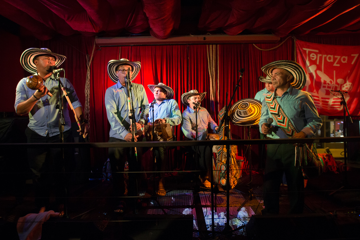 Los Gaiteros de San Jacinto at Terraza 7, there is no better place to see Colombian music in New York City than this Elmhurst, Queens spot and these keepers of folkloric traditions have inspired generations of Colombian musicians.