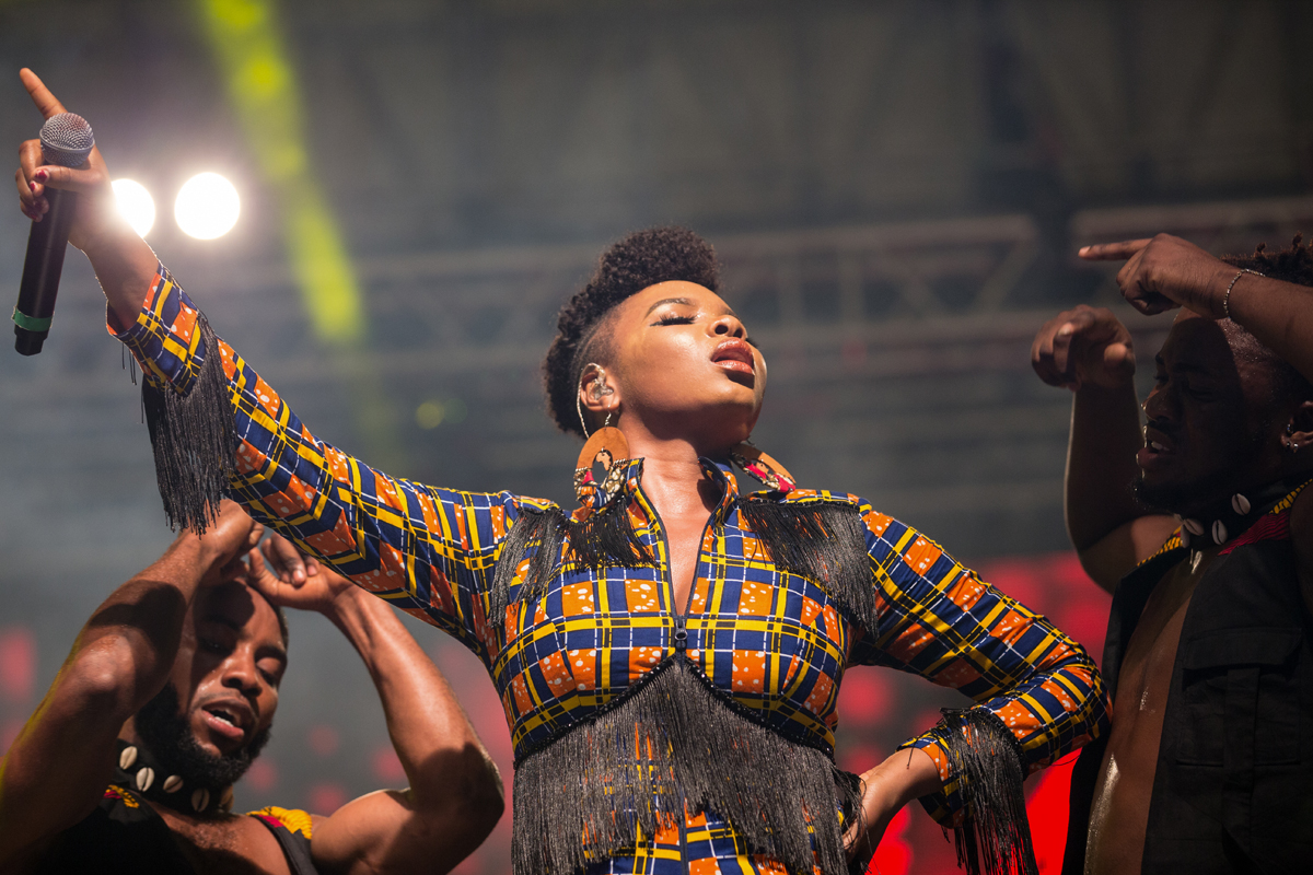 Nigerian vocalist Yemi Alade perfoming at the World Creole Music Festival, October 27th