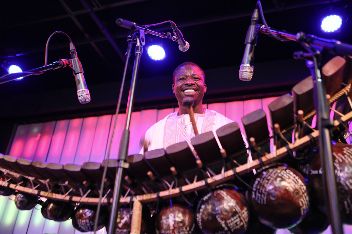 Mamadou Diabate at Littlefield November 4th. Diabate and his band Percussion Mania presented by the Worlkd Music Institute, an exclusive NY appearance before leaving the US following his Dartmouth College residency.