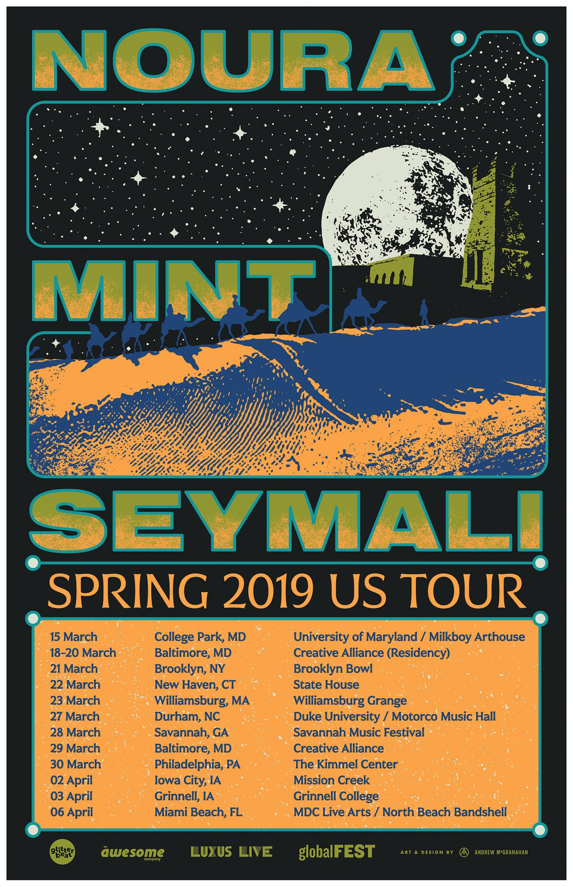 Noura Mint Seymali US tour March-April
