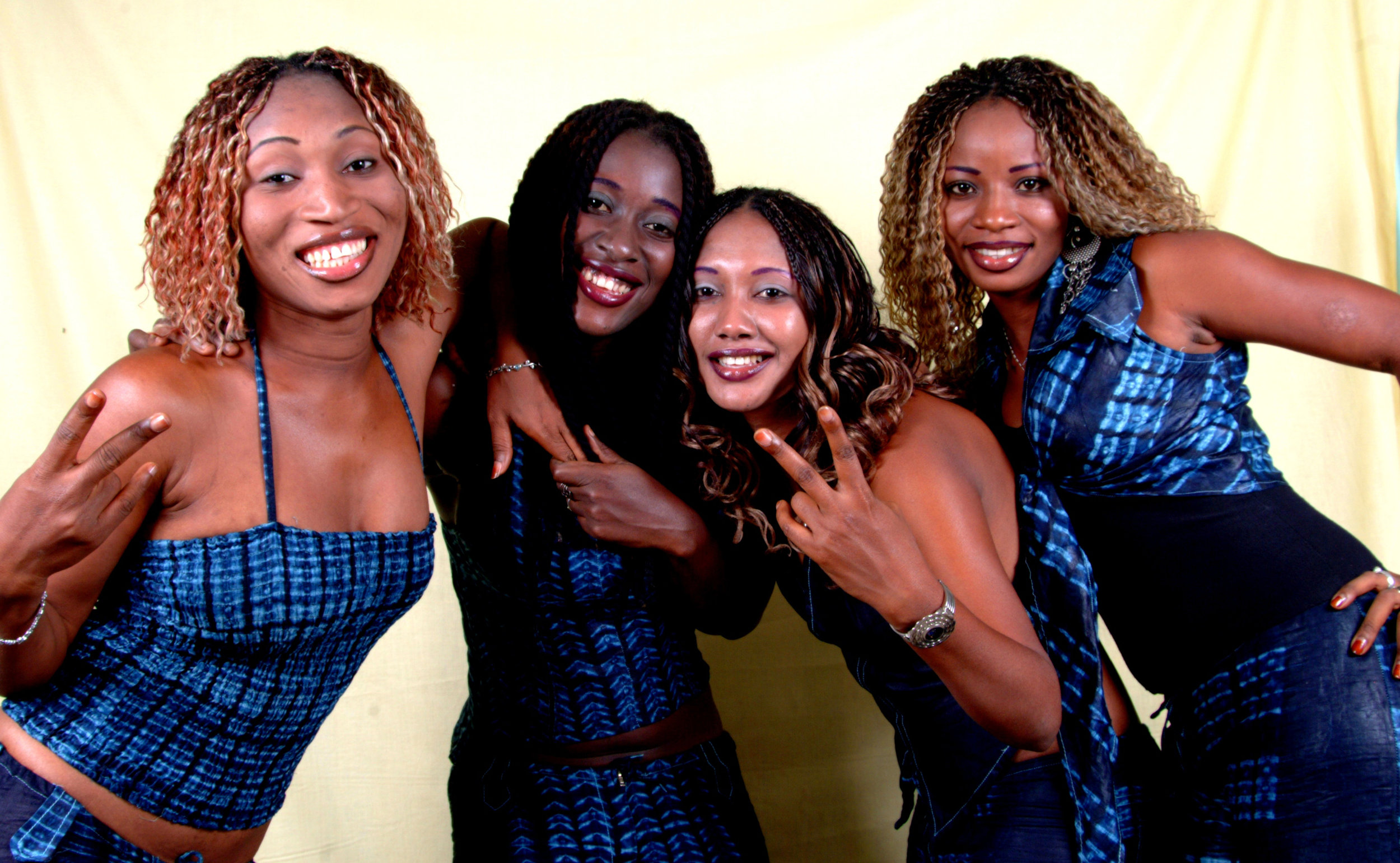 The Ideal Black Girls (L-R) Hadjy, Missbah, Dine, Natu. Formed in 1997, they were the first all female rap group in West Africa. Photo courtesy of the artist