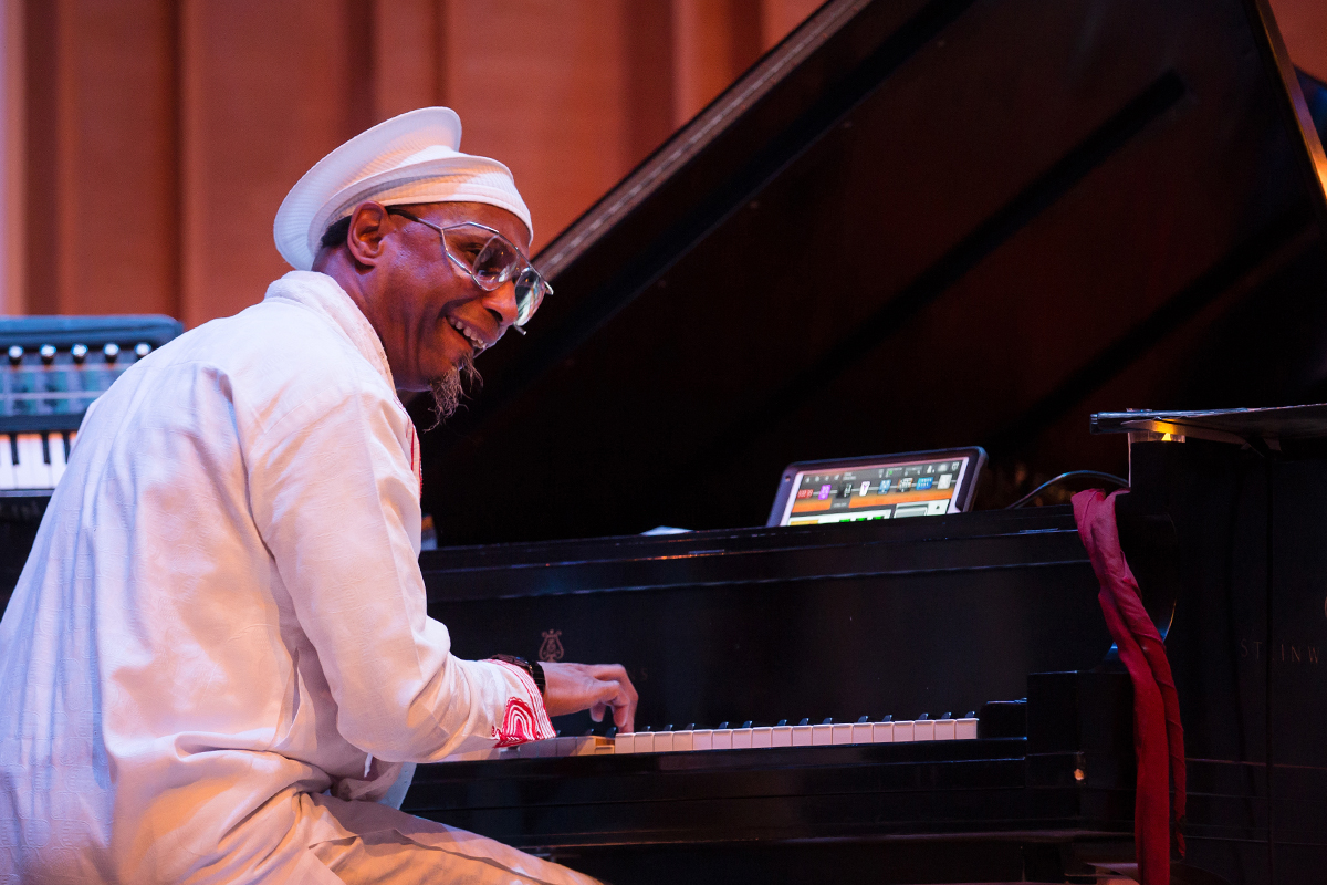 Omar Sosa with the Transparent Water Trio at Merkin Hall, Sosa says The music is meant to spread peace, love and unity between human beings.
