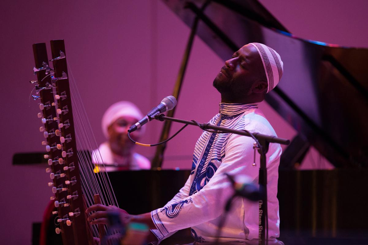 Seckou Keita, kora, and Omar Sosa, piano of the Transparent Water Trio at Merkin hall