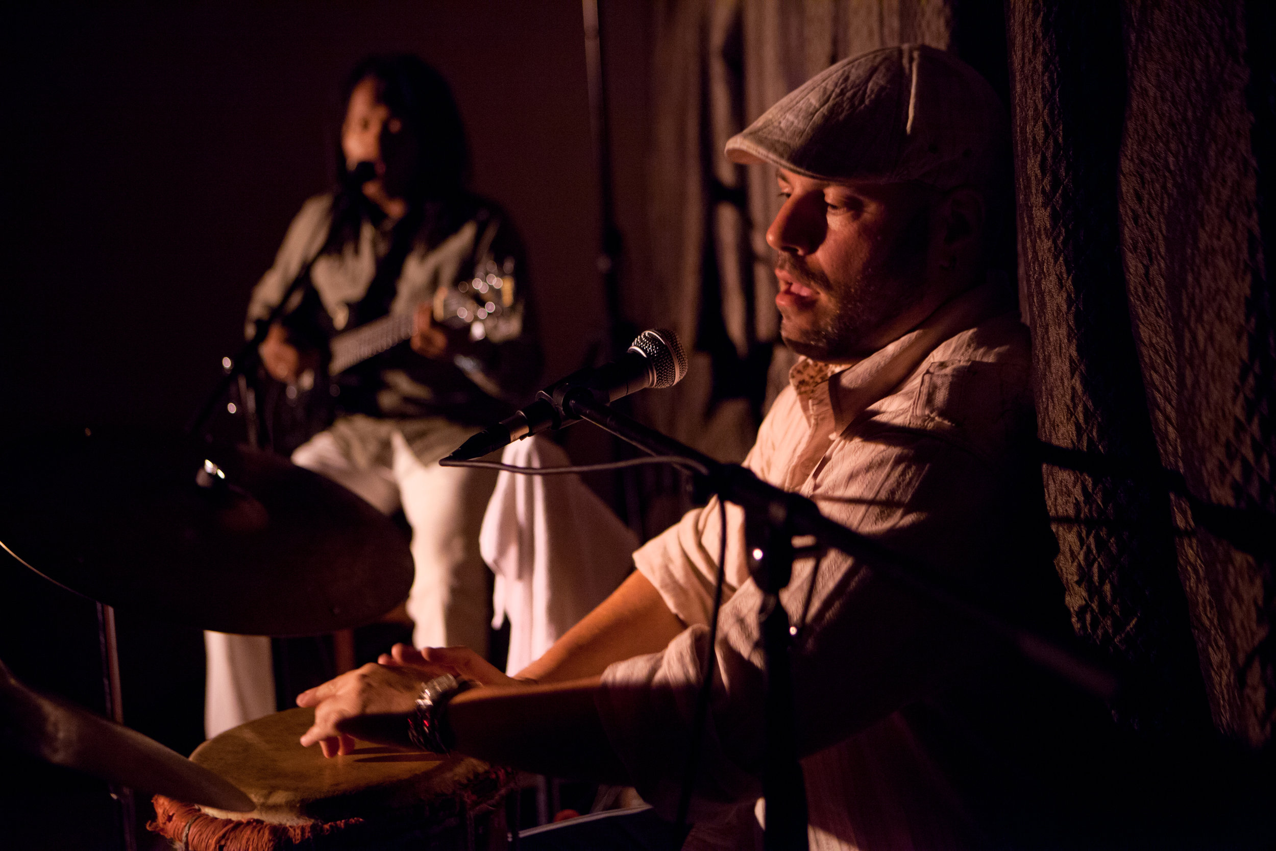 Markus Schwartz and Monelvyno Alexis perfoming as Vu-Duo at The Inkwell in Brooklyn in 2012