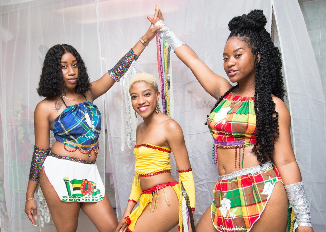 Resiliance Band Launch. models (L-R) Tiashera Jno Baptiste, Collette Ambo, and Tiffany Stevenson