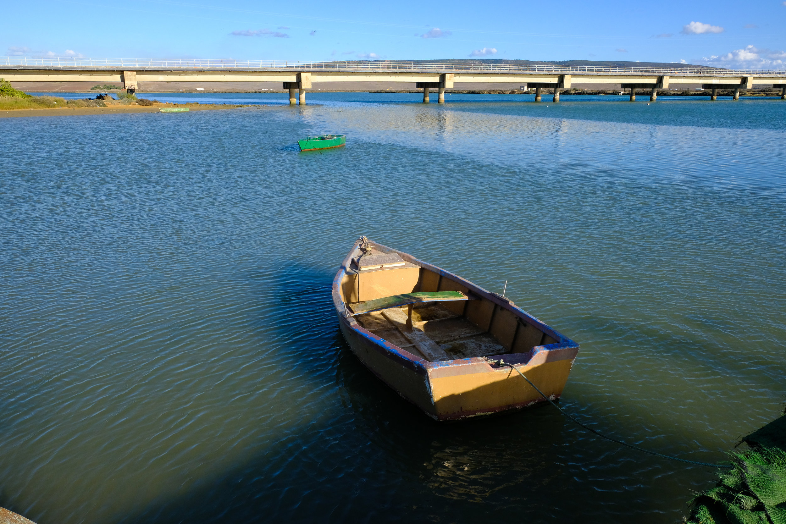 Boats in the river at Barbate, Andalucia.