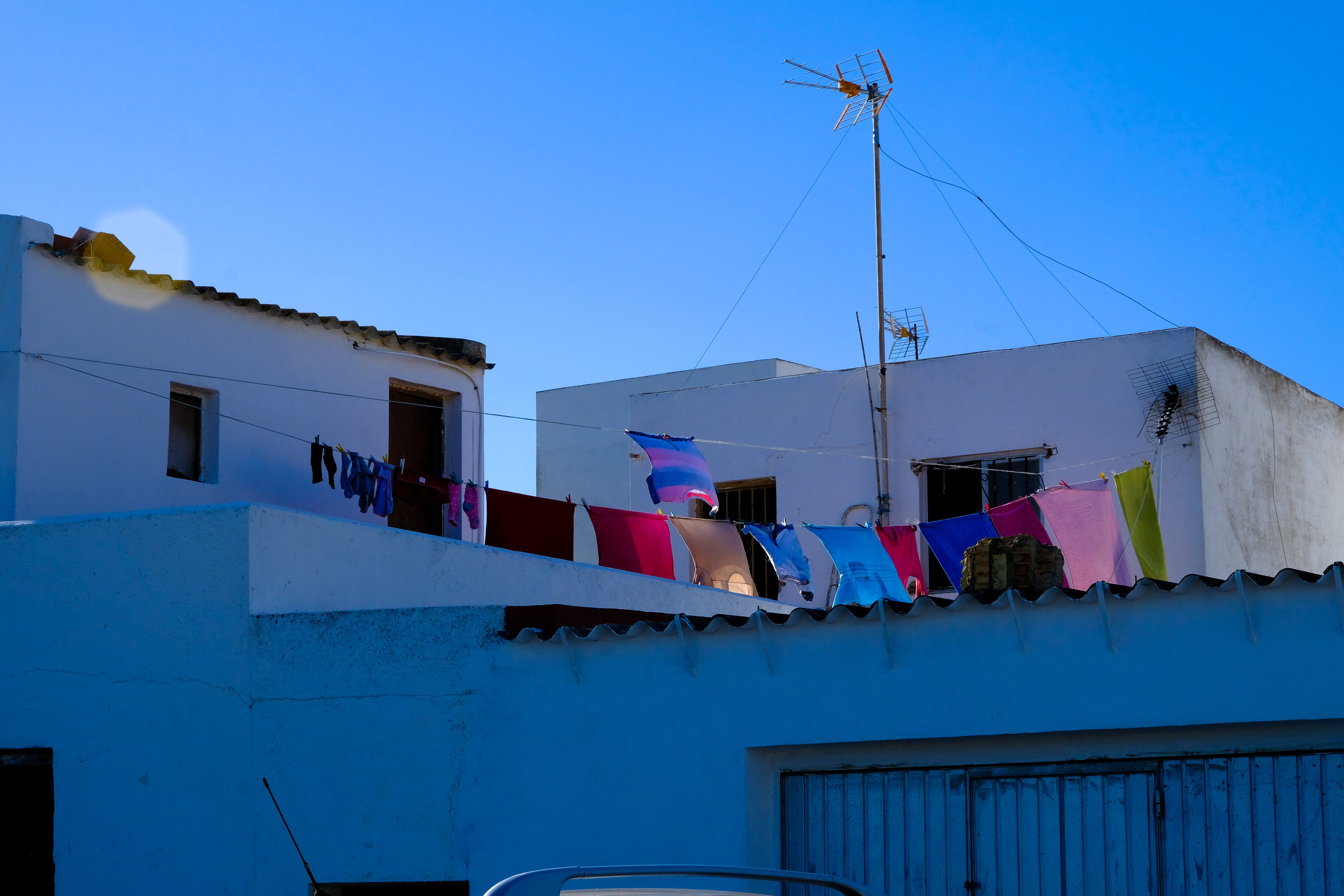 Laundry day at Barbate, Andalucia.