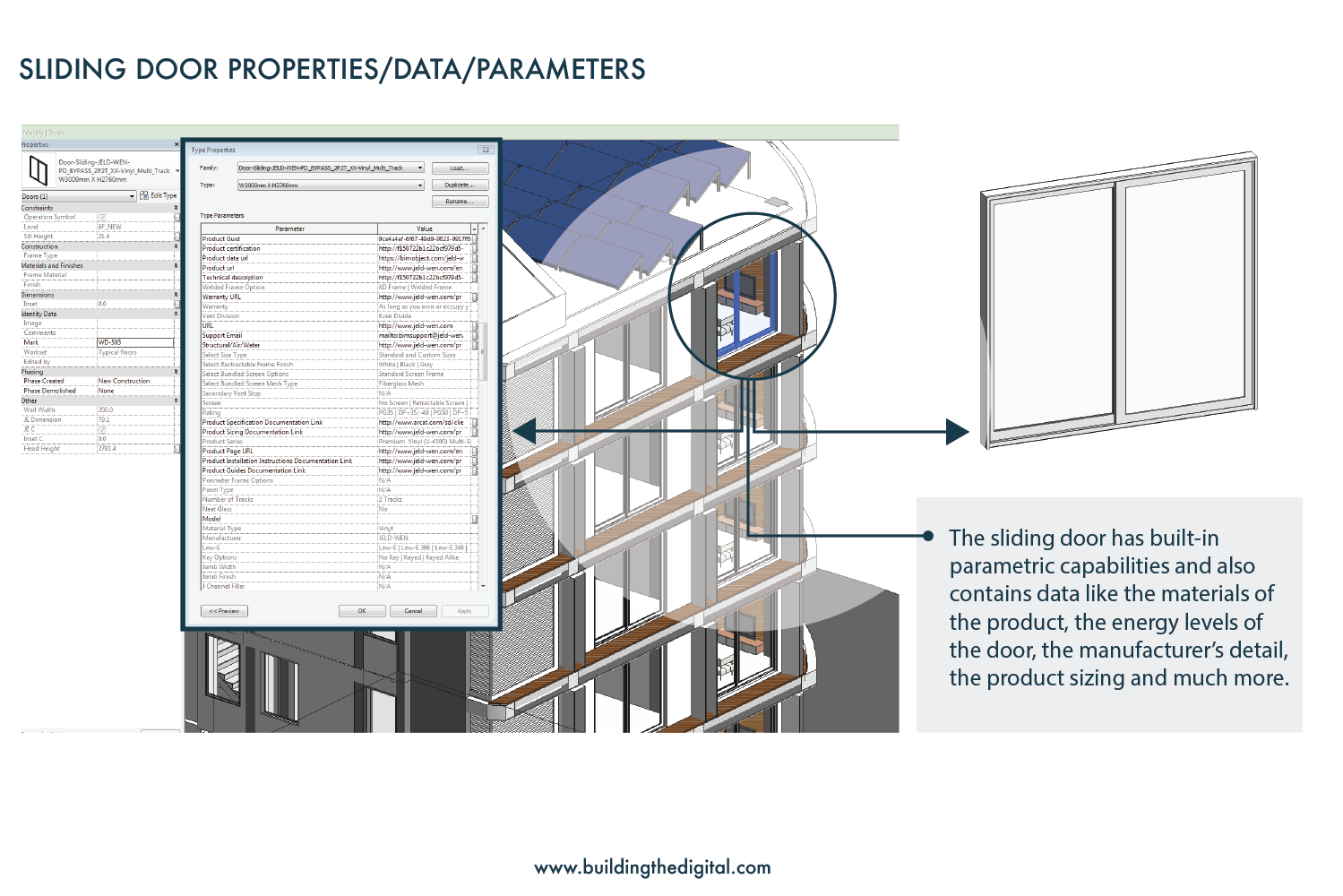 Revit architecture, parametric sliding door family, https://www.buildingthedigital.com/blog/bim-beginners