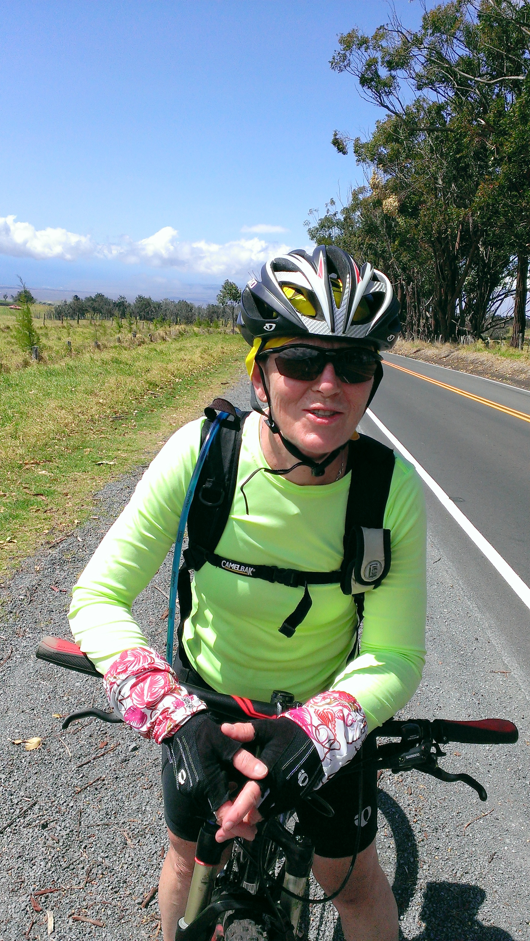 Biking up Mauna Loa on the Hawaii Big Island