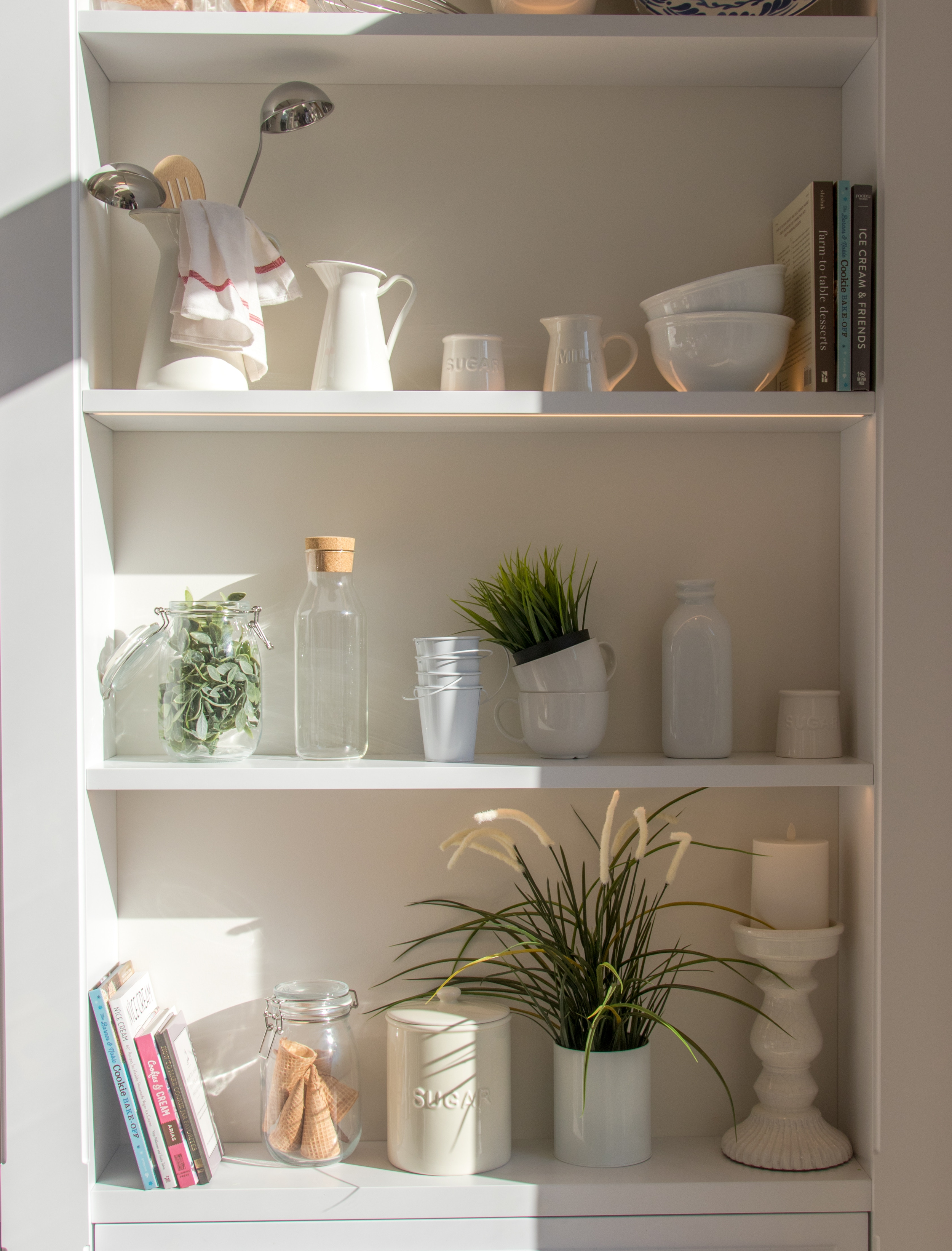 3. sustainable systems - Now that your space is organized we can get an overall view of what furnishings and systems you'll need to finalize your goals and keep things in order. Relish in the joy of having a clean, orderly space!