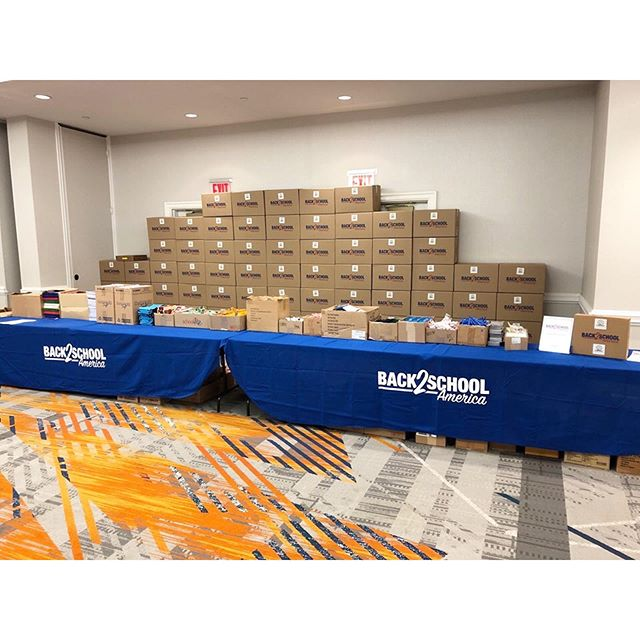 Today we are in New York for a Build-A-Kit at the Financial Service Centers of New York Annual Conference and Expo at the New York Marriott at the Brooklyn Bridge. All 500 kits assembled today will go to the children at @nyhomeless.