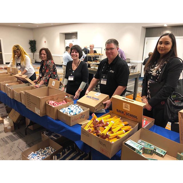 #ThrowbackThursday to our Build-A-Kit in #NewYork last month. The Financial Service Centers of New York (FSCNY) assembled 500 of our Back 2 School kits and then purchased another 500 that went to the @NYHomeless.