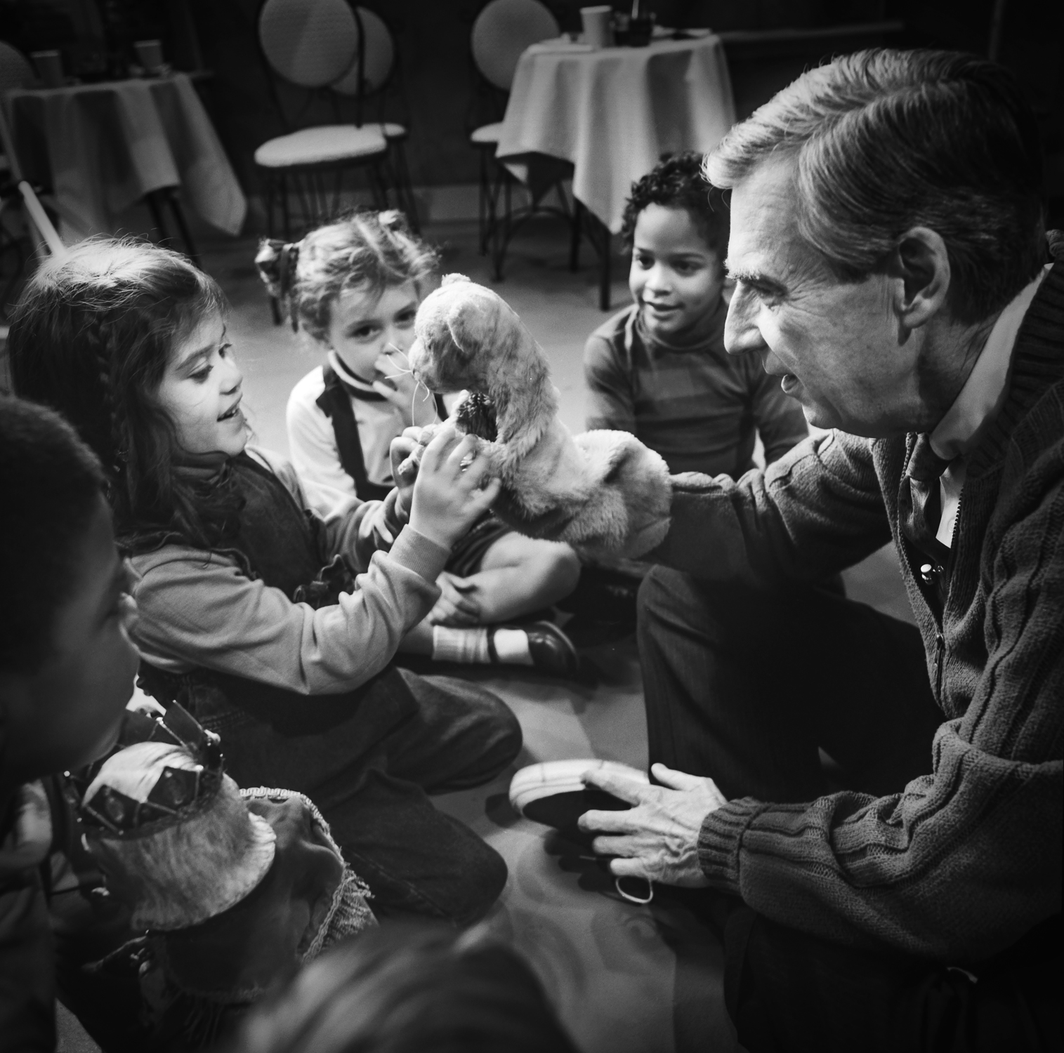 Fred Rogers and children